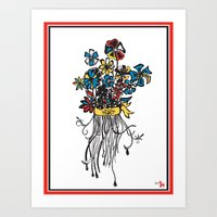 Bouquet - Skal Art Print