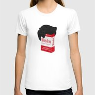 Smoker's Face Womens Fitted Tee White SMALL