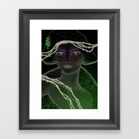 Woman In White Framed Art Print