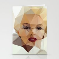 portrait Stationery Cards featuring Monroe. by David