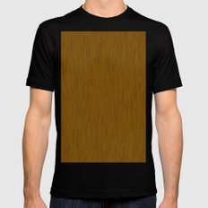 Abstract wood grain texture SMALL Mens Fitted Tee Black