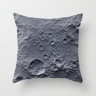 Moon Surface Throw Pillow