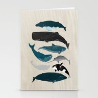 Whales - Pod Of Whales P… Stationery Cards