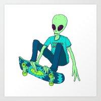 Skatelien Art Print