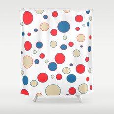 polka dot abstract Shower Curtain