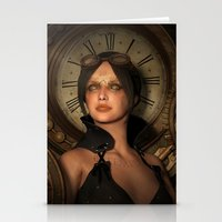 Steampunk Time Keeper Stationery Cards