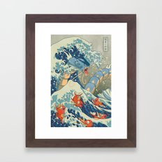 The Great Wave Off Kanto Framed Art Print