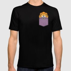Pocket Lion Mens Fitted Tee Black SMALL
