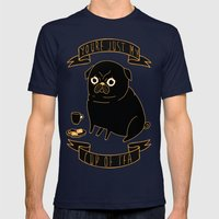 Tea Pug Mens Fitted Tee Navy SMALL