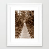 Off The Beaten Path Framed Art Print