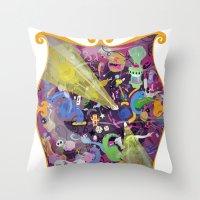 Lisergic Orchestra Throw Pillow