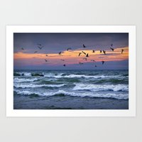 Surf On Lake Michigan Wi… Art Print