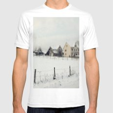 Snowy scenery  Mens Fitted Tee White SMALL