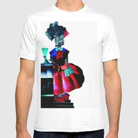 Collage Love :at The Bar Mens Fitted Tee White SMALL