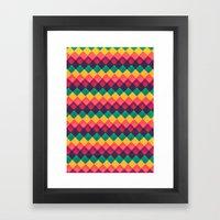 Happy Day Pattern Framed Art Print