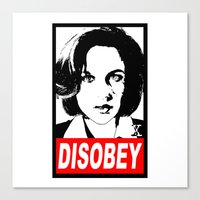 Disobey Scully Canvas Print