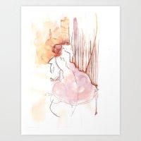 Cloud Mouth: Orange And … Art Print