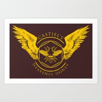Castiel's Heavenly Honey Art Print