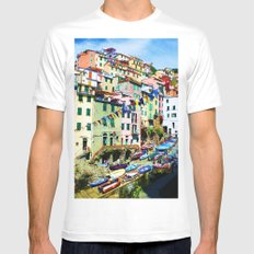 Flags Mens Fitted Tee White SMALL