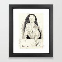 Killer twin peaks Framed Art Print