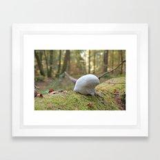 Smurf hat mushroom Framed Art Print