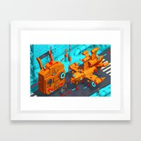 Drone Site Framed Art Print