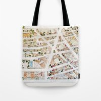 Greenwich Village Map By… Tote Bag