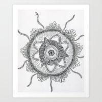 Diatomea-Siphonophorae-Trachomedusae Art Print