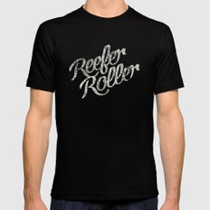 Reefer Roller Black Mens Fitted Tee SMALL