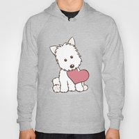 Westie Dog With Love Ill… Hoody