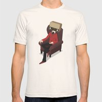 Radiohead Mens Fitted Tee Natural SMALL