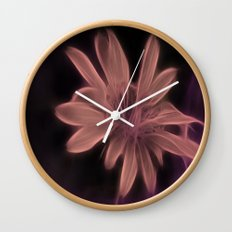 Psychedelic Flower Wall Clock