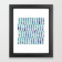 FLORAL ORDER Framed Art Print