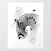 Music Notes Art Print