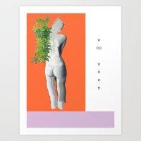 ooze. Art Print