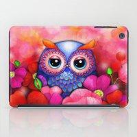 Owl in Poppy Field iPad Case