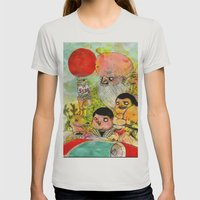 Chinese Pine Trees Womens Fitted Tee Silver SMALL