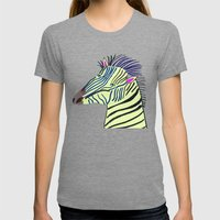 Zebra. Womens Fitted Tee Tri-Grey SMALL