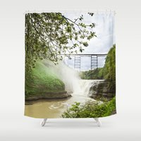 Spring Canyon - Railroad Trussel Shower Curtain