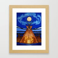 Framed Art Print featuring Returning Home by Aaron Paquette