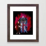 British Tardis With 10th… Framed Art Print