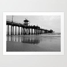 Pier in Black & White Art Print