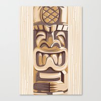 Happy Tiki Canvas Print
