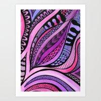 Tangle Tuliping Art Print