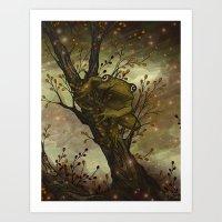 Firefly Frog Art Print