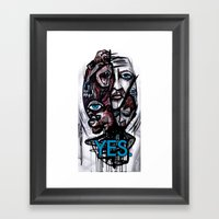 YES Bear Framed Art Print