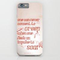 Soar - Illustrated quote of Helen Keller iPhone 6 Slim Case