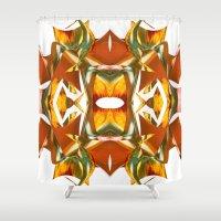 Rainbow Warp - White Shower Curtain