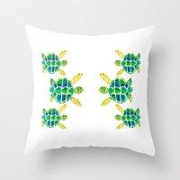 Turtle Love Throw Pillow