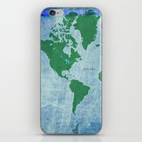 Mercator World Map iPhone & iPod Skin